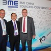 Anton Pietsch (General Manager, BME China), Tu Jianqing (Shanghai International Sourcing Promotion Center, ISPC), Dr. Christoph Feldmann (CEO, BME)